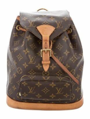 Louis Vuitton Monogram Mini Montsouris Backpack Brown