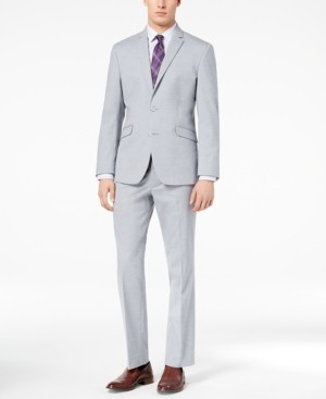 Kenneth Cole Reaction Men's Ready Flex Slim-Fit Stretch Sharkskin Suits