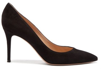 Gianvito Rossi Gianvito 85 Point-toe Suede Pumps - Black