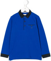 Armani Junior logo polo shirt - kids - Cotton/Spandex/Elastane - 4 yrs