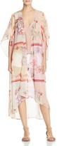 Band of Gypsies Floral-Print Sheer Kimono