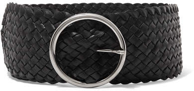 Andersons Anderson's - Woven Leather Waist Belt - Black