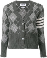 Thom Browne classic diamond patterned cardigan