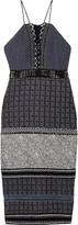 Jonathan Simkhai Crochet and lace-trimmed patchwork jacquard dress