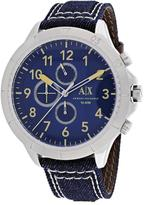Armani Exchange Chronograph Collection AX1756 Men's Blue Denim Watch