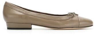 Sarah Chofakian Martina leather ballerina shoes