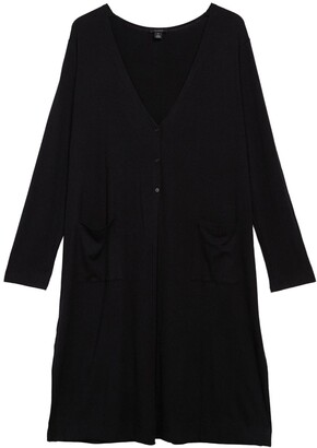 Halogen Long Ribbed Knit Cardigan