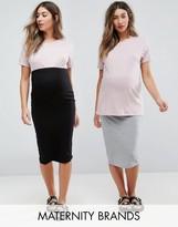 Asos Over The Bump Midi Skirt 2 Pack
