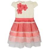 Miss Blumarine Miss BlumarinePink Striped Embroidered Flower Dress