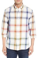 Tommy Bahama 'Chaveta' Regular Fit Check Linen & Cotton Sport Shirt