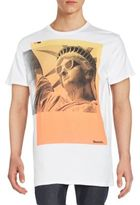 Bench Statue Of Liberty Graphic Tee