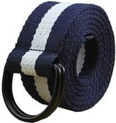 "Maikun Mens & Womens Canvas Belt with D-ring 1 1/2"" Wide 54"" Long Solid"