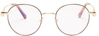 Chloé Ayla Round Metal Glasses - Womens - Rose Gold