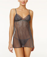 DKNY Nightfall Crochet-Panel Chemise with Matching G-String DK2012