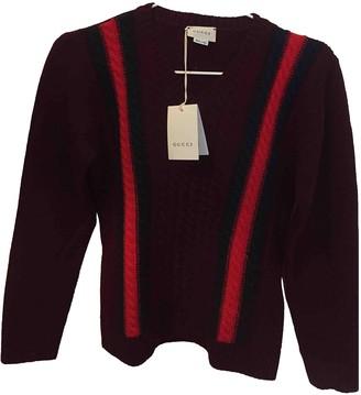 Gucci Burgundy Wool Knitwear