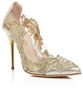 Oscar de la Renta Alyssa Embellished Pointed Toe Pumps