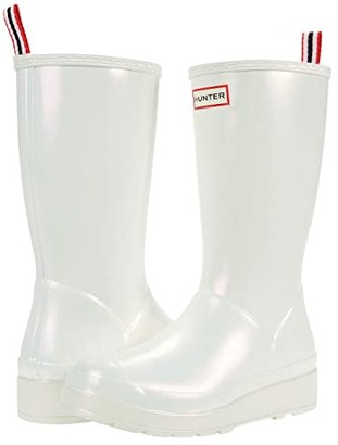 Hunter Play Boot Tall Nebula (Silver) Women's Shoes