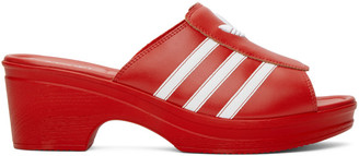 adidas LOTTA VOLKOVA Red Trefoil Heeled Sandals
