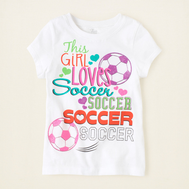 Children's Place Soccer girl graphic tee