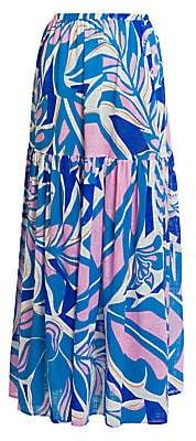 Emilio Pucci Women's Rustic Cotton Maxi Skirt