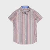 Paul Smith Boys' 7+ Years Short-Sleeve Signature Stripe 'Lennart' Cotton Shirt
