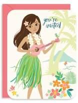 Brika Hula Girl Invitation Card and Envelope- Set of 10