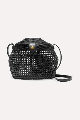 Faithfull The Brand Paloma Woven Shoulder Bag - Black