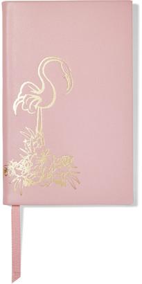 Smythson Panama Flamingo Leather Notebook