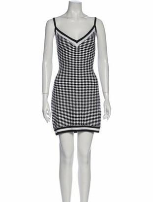 Balmain Printed Mini Dress Black
