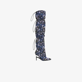 Unravel Project blue Elephant 100 floral boots