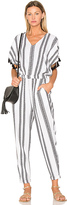 Seafolly Jacquard Stripe Jumpsuit in White. - size XS (also in )