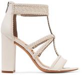 Sam Edelman Yordana Woven Leather Sandals - White