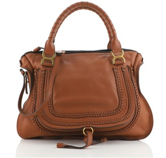 Chloé Marcie Braided Satchel Leather Large