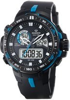 FORESEEX Teens Boys Girls Sport Analog Digital Dual Time Water Resistant Wrist Watches Backlight Alarm Stopwatch