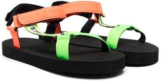 Stella McCartney Kids TEEN logo strappy sandals