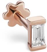 Maria Tash Diamond Baguette Threaded Stud Earring
