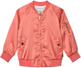 Mayoral Coral Satin Bomber Jacket