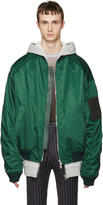 Juun.J Green Oversized Bomber Jacket