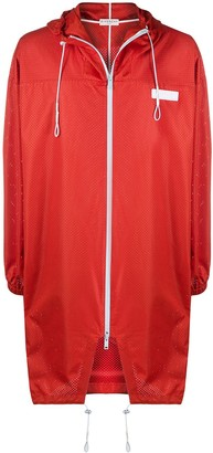 Givenchy Logo Patch Perforated Raincoat