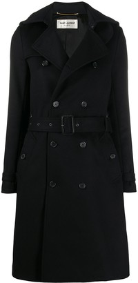 Saint Laurent Double-Breasted Belted Coat