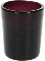 A by Amara - Leighfield Glass Tumbler - Maroon - Small