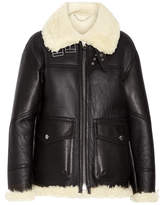 Burberry Shearling-lined Leather Coat - Black