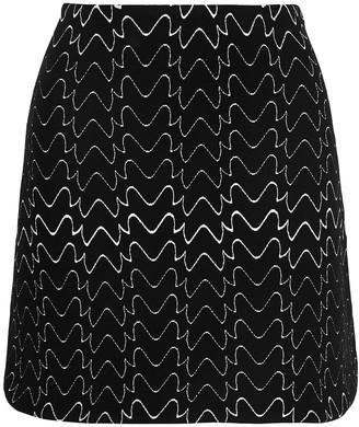 Alaia Jacquard-knit Mini Skirt