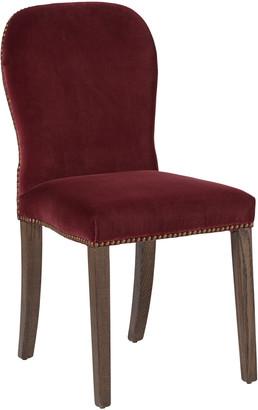 OKA Stafford Velvet Dining Chair - Rioja