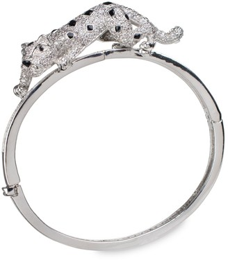 Cz By Kenneth Jay Lane Cubic Zirconia Pave Panther Bangle