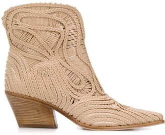 Le Silla Charlize braided ankle boots