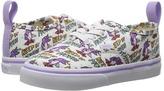 Vans Kids Authentic Elastic Lace x Dallas Clayton Skating Unicorns/True White) Kids Shoes