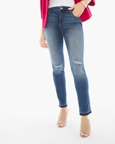 Chico's Raw-Hem Girlfriend Ankle Jeans