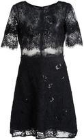 Marchesa embroidered short dress - women - Nylon - 0