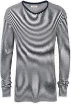 Laneus striped V-neck jumper